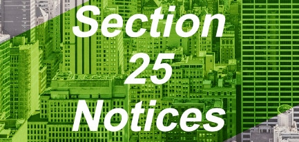 section 25 notice laws