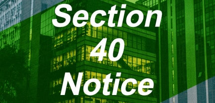 section 40 notice